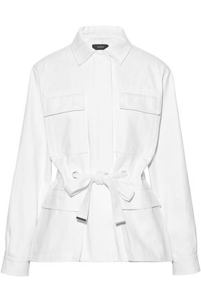 JOSEPH Tie-front cotton-canvas jacket
