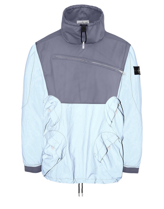 STONE ISLAND ЛЕГКАЯ КУРТКА 44999 GARMENT DYED PLATED REFLECTIVE WITH NY JERSEY-R