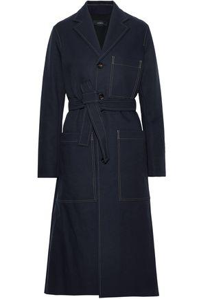 JOSEPH Belted twill coat