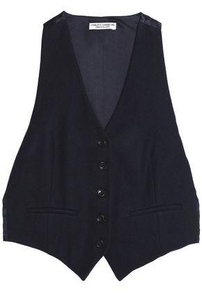 CURRENT/ELLIOT + CHARLOTTE GAINSBOURG Wool-blend crepe vest