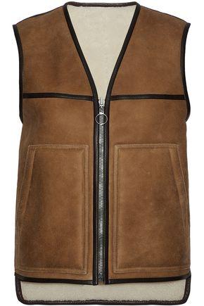 JOSEPH Reversible leather-trimmed shearling vest