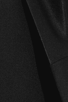 ALEXANDERWANG.T Satin-trimmed silk blazer