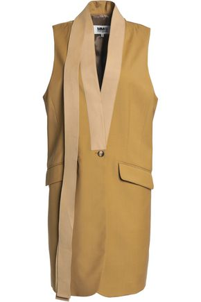 MM6 MAISON MARGIELA Grosgrain-trimmed virgin wool vest