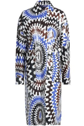 EMILIO PUCCI Printed coated-effect coat
