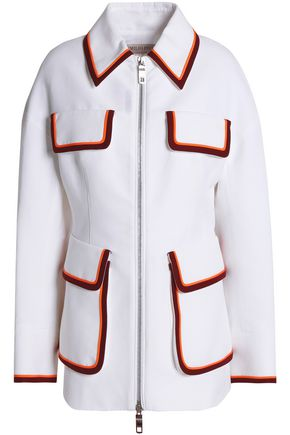 EMILIO PUCCI Striped twill-paneled cotton jacket