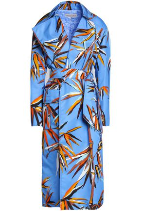 EMILIO PUCCI Printed coated shell trench coat