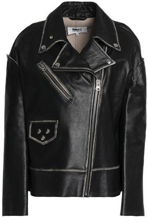 MM6 MAISON MARGIELA Asymmetric leather biker jacket