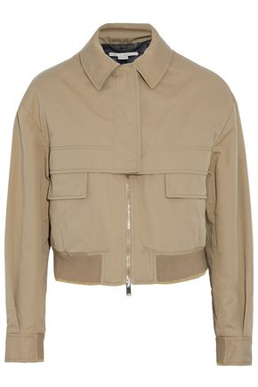 STELLA McCARTNEY Twill cotton-blend cropped jacket