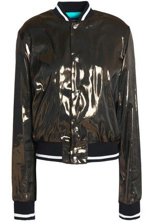 JUST CAVALLI Coated chiffon bomber jacket