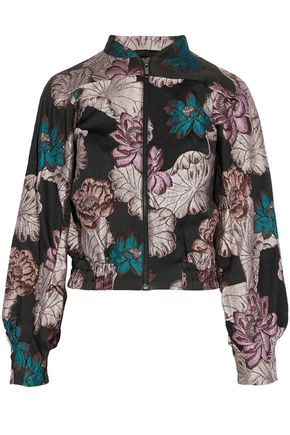 CO Metallic floral-brocade jacket