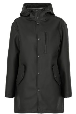T by ALEXANDER WANG Embossed faux leather hooded jacket