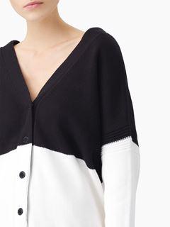 Cardigan color block en coton