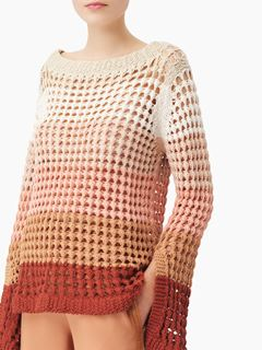 Slit-cuff sweater