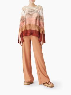 Pull en maille crochet color block