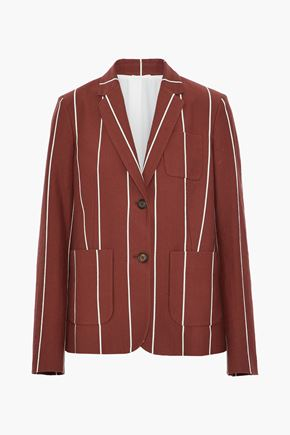 BRUNELLO CUCINELLI Striped cotton-faille blazer