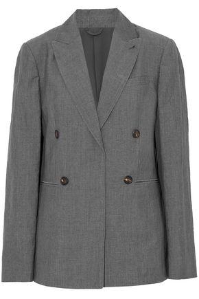 BRUNELLO CUCINELLI Wool and linen-blend blazer