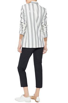 BRUNELLO CUCINELLI Sequin-embellished silk-blend blazer