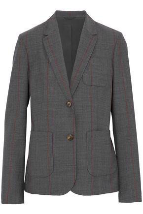 BRUNELLO CUCINELLI Striped wool-blend blazer