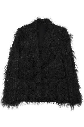 BRUNELLO CUCINELLI Metallic feathered organza jacket