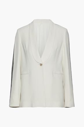 BRUNELLO CUCINELLI Bead-embellished cady blazer