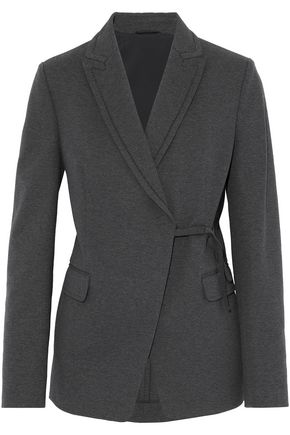 BRUNELLO CUCINELLI Bead-embellished cotton-blend jersey blazer