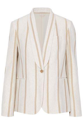 BRUNELLO CUCINELLI Metallic striped cotton blazer