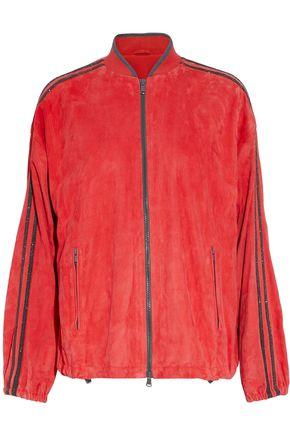 BRUNELLO CUCINELLI Bead-embellished suede jacket