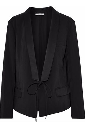 T by ALEXANDER WANG Satin-trimmed twill blazer