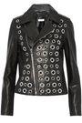 RTA Eyelet-embellished leather biker jacket