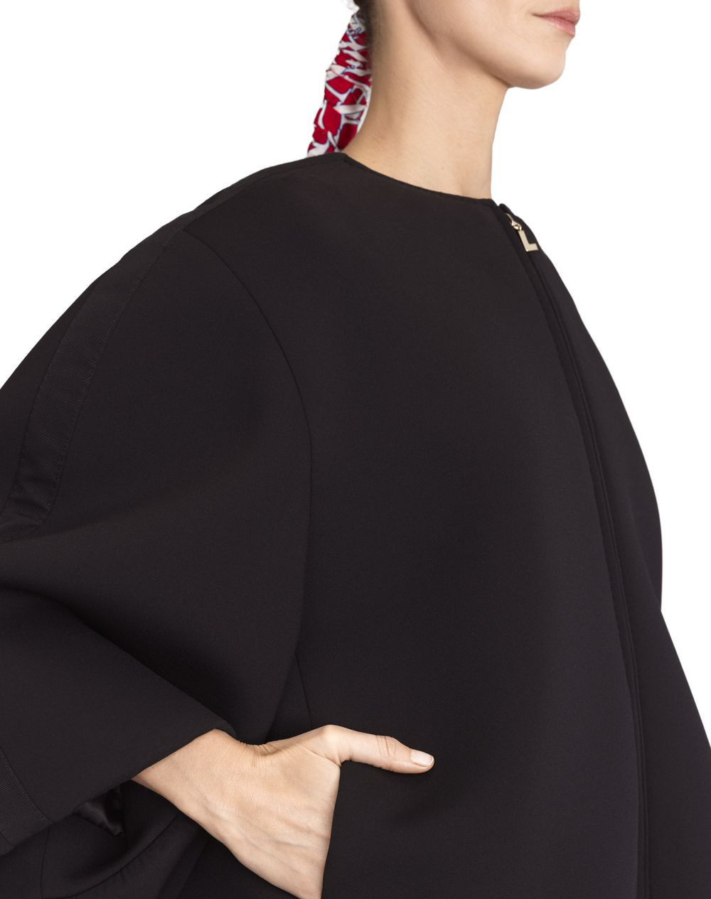 NEOPRENE BALLOON COAT - Lanvin