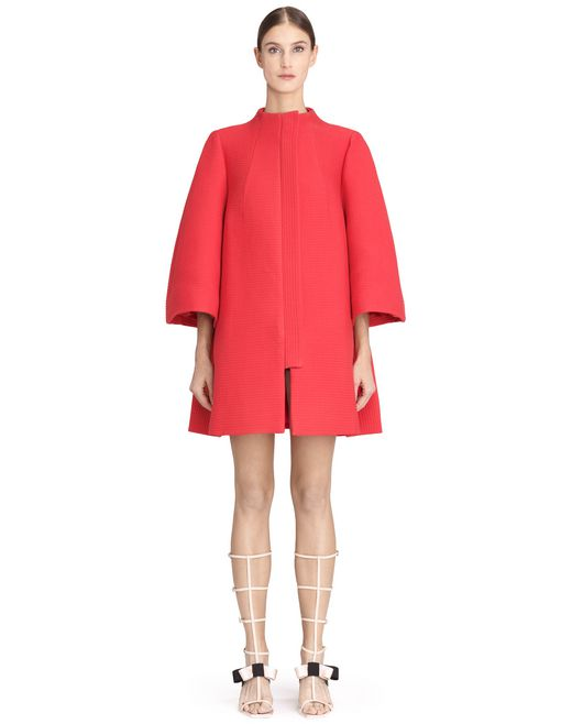 QUILTED BALLOON COAT - Lanvin