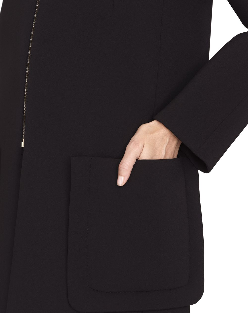 SINGLE-BREASTED NEOPRENE COAT - Lanvin