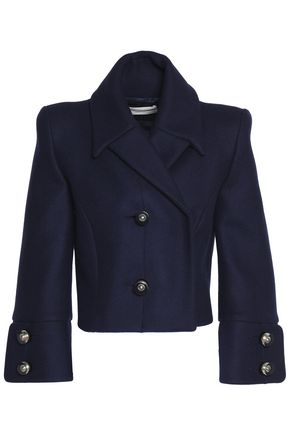 ANTONIO BERARDI Double-breasted virgin wool-blend cropped jacket