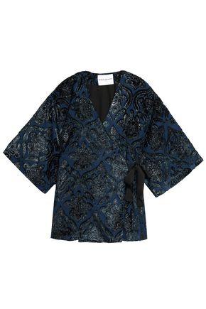 PERSEVERANCE Embellished lamé and velvet kimono