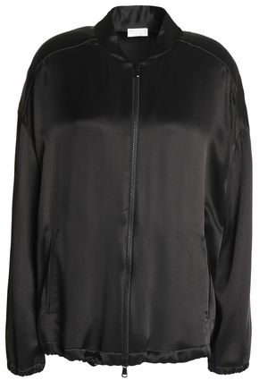 BRUNELLO CUCINELLI Beaded satin bomber jacket