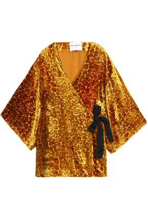 PERSEVERANCE Devoré-velvet kimono