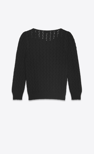 SAINT LAURENT Knitwear Tops Woman Pullover in black Victorian jacquard b_V4