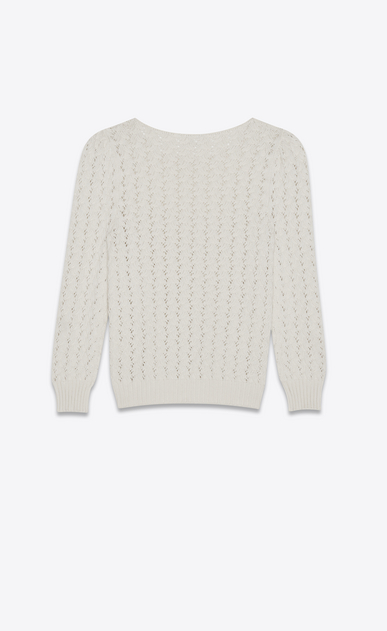 SAINT LAURENT Knitwear Tops Woman pullover in ivory victorian jacquard b_V4