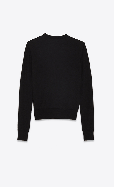 SAINT LAURENT Knitwear Tops Woman PANTHER pullover in black jacquard knit b_V4