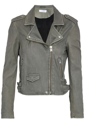 IRO Washed-leather biker jacket