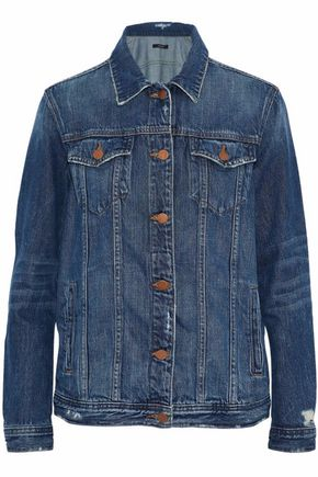 J BRAND Distressed faded denim jacket