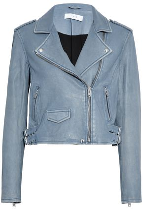 IRO Brushed-leather biker jacket