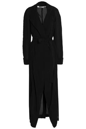 McQ Alexander McQueen Textured-cupro trench coat