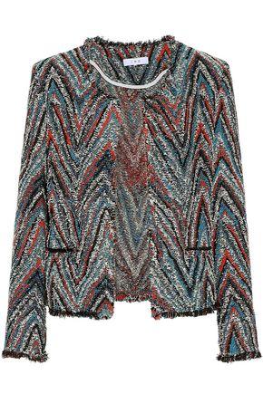 IRO Weird frayed cotton-blend tweed jacket