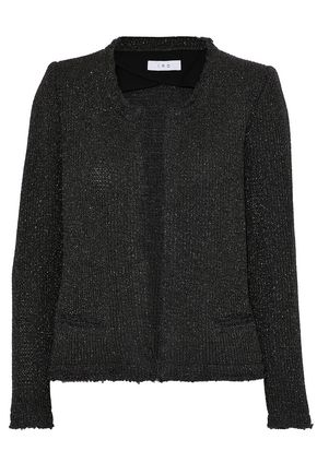 IRO Frayed metallic knitted jacket