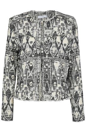 IRO Frayed jacquard-tweed jacket