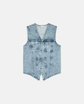 80 Wash Vest in Blue