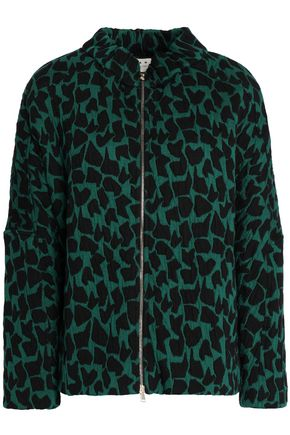 MARNI Printed cotton-blend cloqué jacket