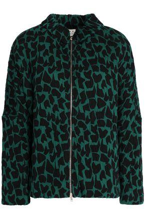 MARNI Printed cotton-blend cloqué jacket