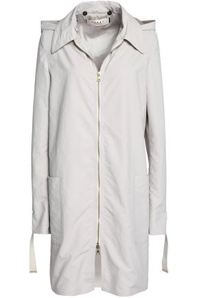 MARNI Gabardine hooded coat